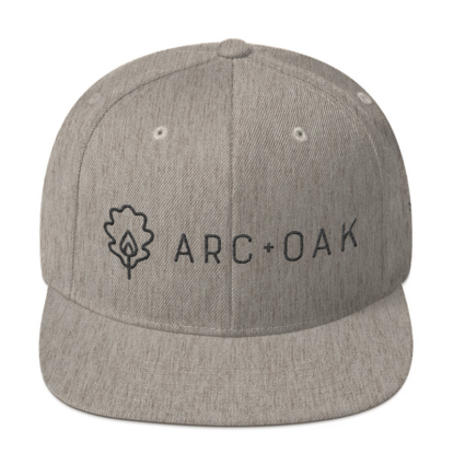 Picture of A+O Snapback Hat (Heather Grey)