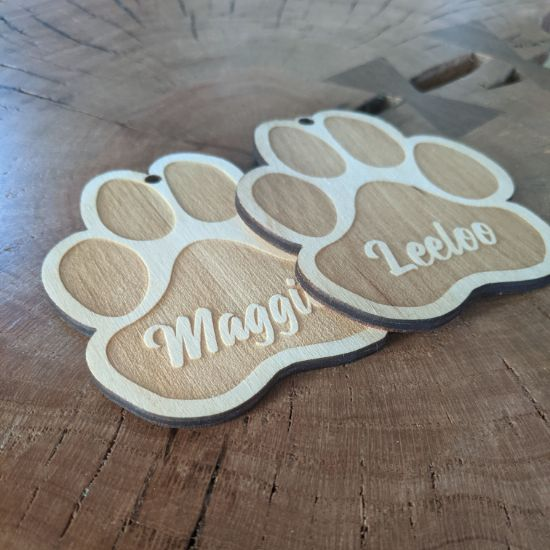 Picture of Paw Print Christmas Ornament
