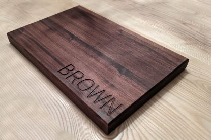 Picture of Personalized Walnut Cutting Board